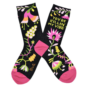 Women's You're Killin My Vibe Socks