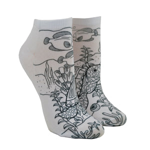 Unisex Under the Sea Color-In Socks