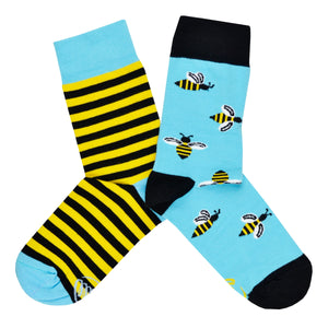 Unisex Mismatched Bee Socks