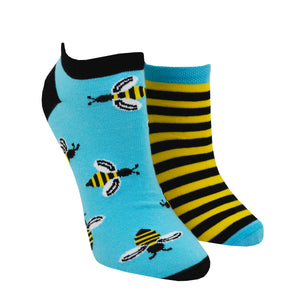 Unisex Mismatched Bee Ankle Socks