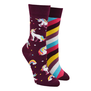 Unisex Mismatched Unicorn Socks