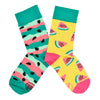 Unisex Watermelon Splash Socks