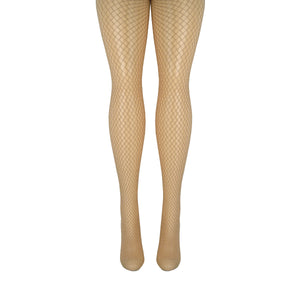 Women's Glittering Gold Fishnet Tights