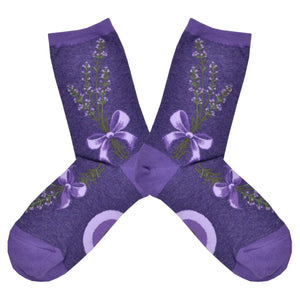 Women's Lavender Harvest Socks