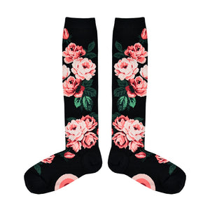 Women's Romantic Roses Knee High Socks