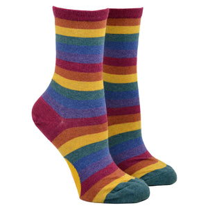 Women's Heather Rainbow Stripe Socks
