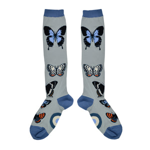 Women's Butterfly Study Knee High Socks