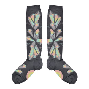 Women's Crystals Knee High Socks