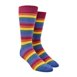 Men's Heather Rainbow Stripe Socks