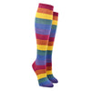 Women's Heather Rainbow Stripe Knee High Socks