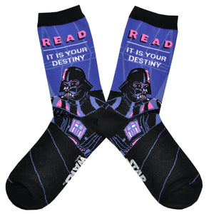 Unisex Darth Vader Reads Socks