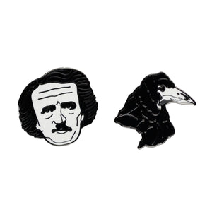 Poe And Raven Pins
