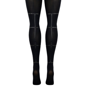 Women's Strappy Print Tights