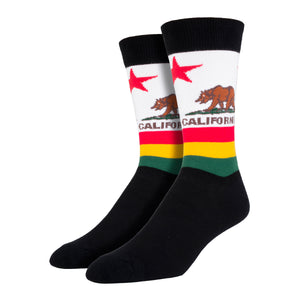 Men's California Flag Socks