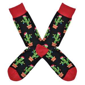 Men's Christmas Cactus Socks