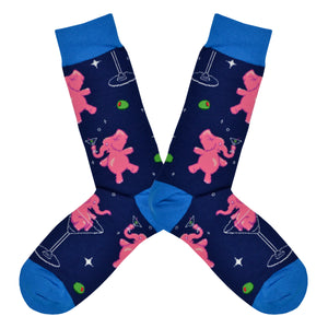 Men's Pink Elephants Socks
