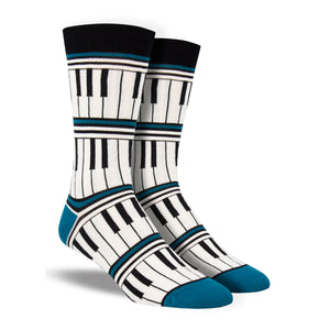 Men's Bamboo Piano Stripe Socks