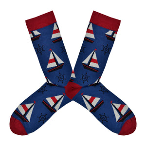 Men's Bamboo Sailboat Socks