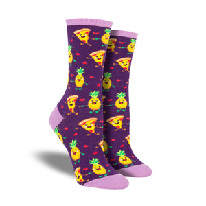 Women's Pizza Loves Pineapple Socks