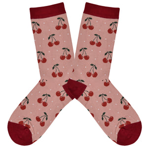 Women's Bamboo Cherry Socks
