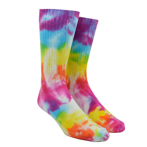 Men's Pastel Rainbow Tie-Dye Socks