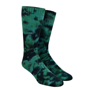 Men's Teal Tie-Dye Socks