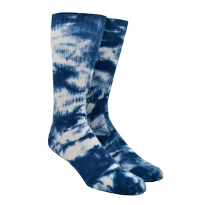 Men's Navy Tie-Dye Socks