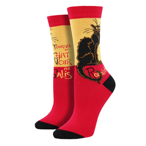 Women's Bamboo Le Chat Noir Socks