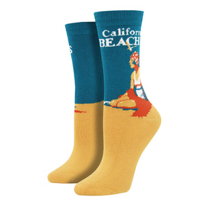 Women's Bamboo California Beaches Socks
