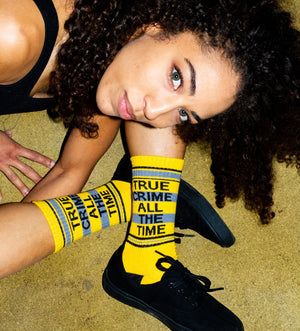 Unisex True Crime All The Time Socks