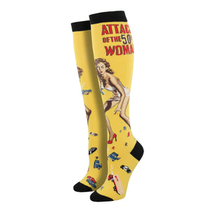 Women's Attack Of The 50ft Woman Knee High Socks