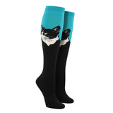 Women's Cat Portrait Knee High Socks