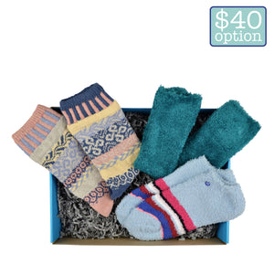 women's indoors box collection of cozy socks