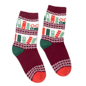 Unisex Cozy Bookshelf Socks