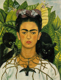 "The 1940 Frida Kahlo painting ""Self-Portrait with Thorn Necklace and Hummingbird"""