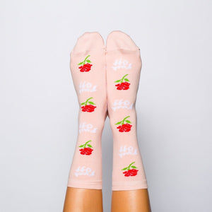 Women's Fuck Off Rose Socks