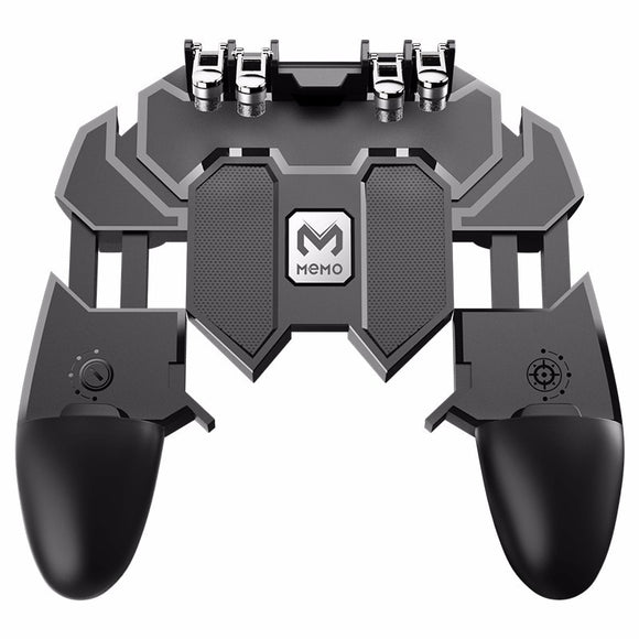 AK66 Six Fingers PUBG Game Controller Gamepad Metal Trigger Shooting