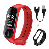 M3 Plus Smart Bracelet Heart Rate Blood Pressure Health Waterproof Smart Watch