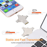 4in1 Flash Drive 16gb For iPhone, Android & Type-C OTG USB Devices