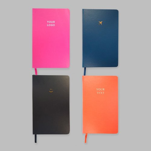 A5 Foiled Hardcover Notebooks - Plain