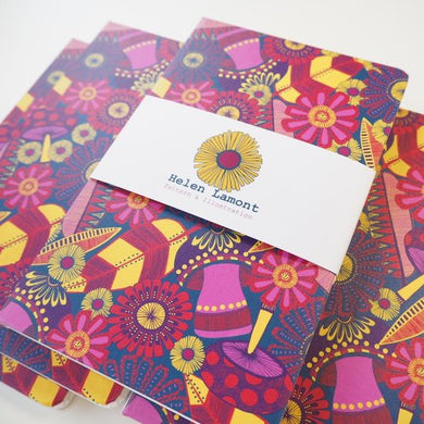 Bespoke Full Bleed Print A5 Notebooks - Plain