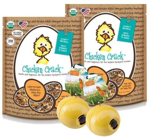 Double Boredom Buster Chicken Crack Chicken Toy