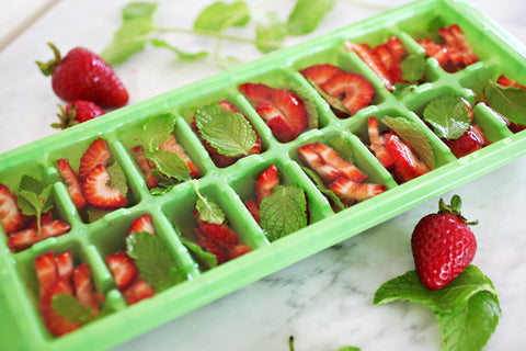 Frozen Strawberries & Mint