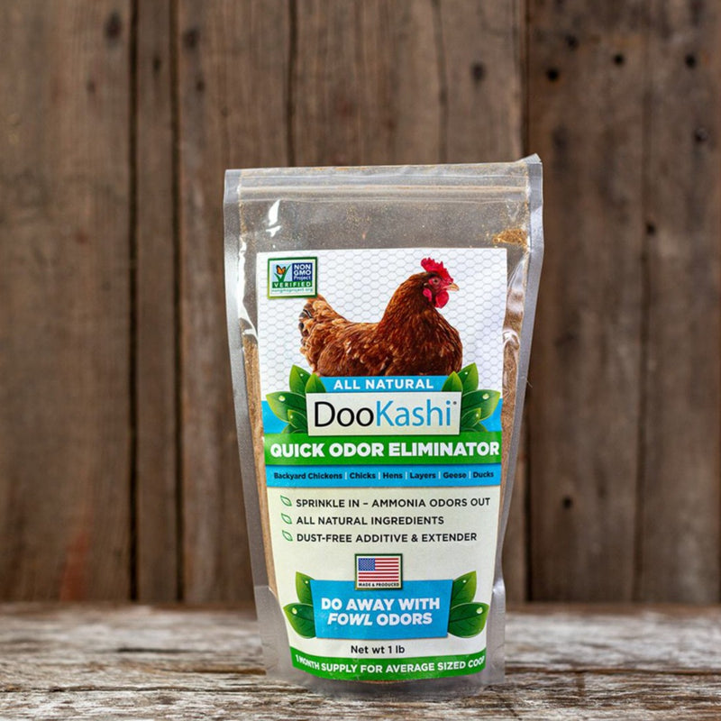 One bag of Dookashi Odor Eliminator for Poultry