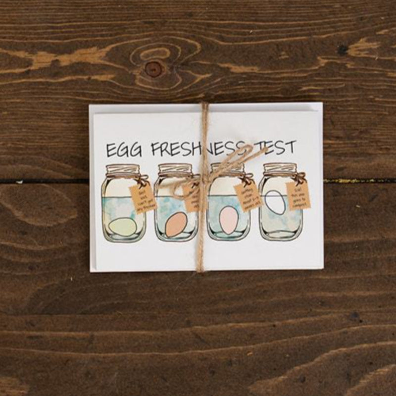 Egg Freshness Test Note Cards