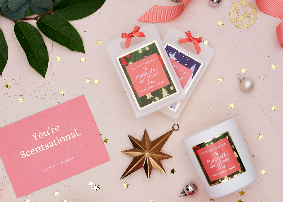 Dr Marshall's Christmas Tree | Olivia's Haven Luxury Home Fragrance | Hand Poured in Northern Ireland