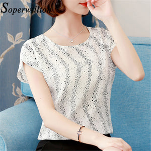 6362cc6346b Blusas Feminina 2018 Fashion Short Sleeve Chiffon Boho Blouse Shirts Summer  Floral Print Women Top Casual Female Clothing  Bmx