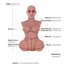 Load image into Gallery viewer, Realistic Half Sex Torso Mold 80cm Toys