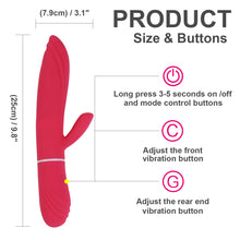 Load image into Gallery viewer, Red AV Vibrator for Female Sex Toy