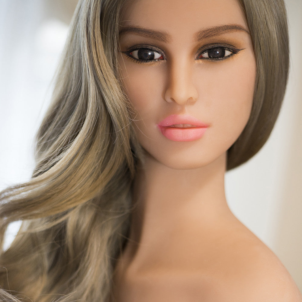 Mature America Face Sex Doll Head for Men